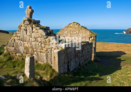 st.helens oratory near at 'cape cornwall' near st.just in cornwall,england - Stock Photo