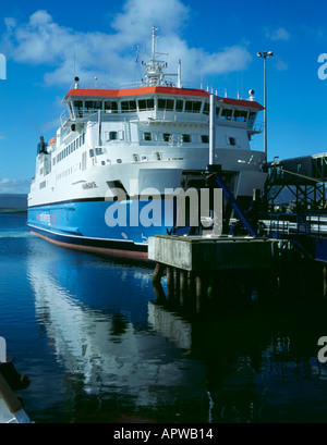 Ferry 'Hamnavoe', berthed at Stromness, Mainland, Orkney Islands, Scotland, UK. - Stock Photo