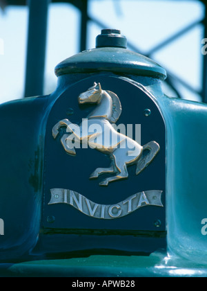 Invicta badge on an Aveling and Barford GD2 diesel roller. - Stock Photo