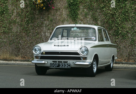 Ford/Lotus Cortina MK1 of 1965. Built 1963 to 1966 - Stock Photo