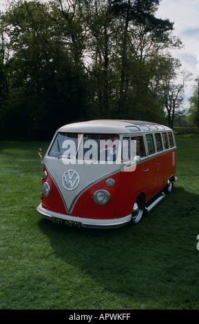 Volkswagen Kombi (splitty) of 1964 - Stock Photo