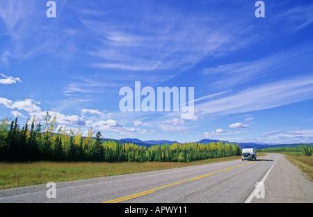 Alaska Highway Northern BC Canada - Stock Photo