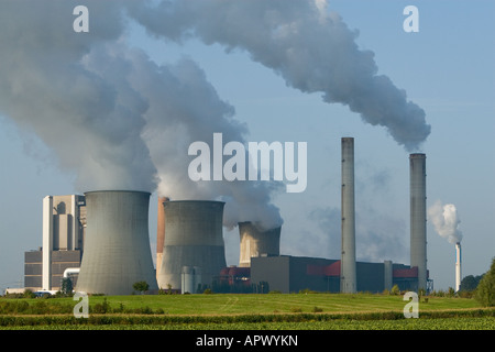 A brown coal power plant called Braunkohlekraftwerk Weisweiler