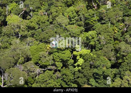 Skyrail Barron Gorge National Park Cairns North Queensland Australia aerial - Stock Photo