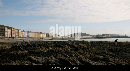 general view of the promenade and seafront Aberystwyth Ceredigion Wales UK