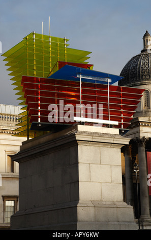 the fourth pillar at trafalgar square called model for a hotel 2007 by thomas schutte unveiled 7th november 07 london - Stock Photo