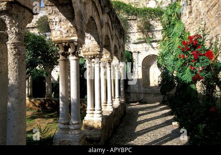 San Giovanni degli Eremiti, Palermo, Sicily Italy - Stock Photo