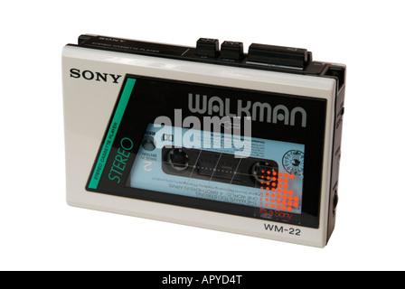 Sony Walkman WM-22 stereo cassette player - Stock Photo
