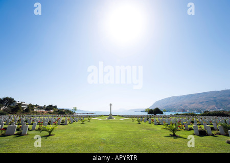 Allied War Cemetery, Souda Bay, near Chania, Crete, Greece - Stock Photo
