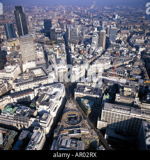 Aeriel view of the City of london - Stock Photo