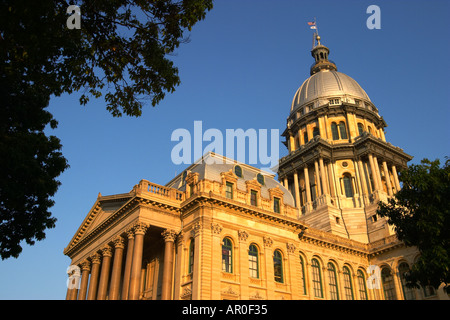 ILLINOIS Springfield Capitol Building large dome opened in 1877 - Stock Photo