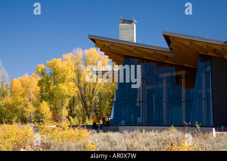 New visitor center in Grand Teton National Park Wyoming - Stock Photo