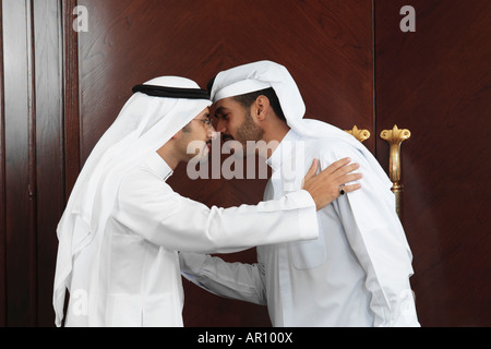 Arab men greeting each other stock photo 15903717 alamy businessman greeting each other stock photo m4hsunfo