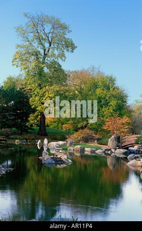 The Osaka Japanese garden in Jackson Park, Chicago Stock Photo ...