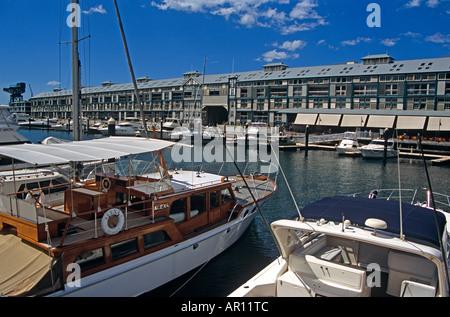 Finger Wharf, Woolloomooloo Bay, Sydney, New South Wales, Australia - Stock Photo