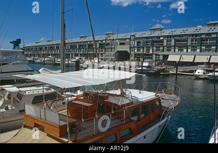 Finger Wharf, Woolloomooloo Bay, Home of the Royal Australian Navy, Sydney, New South Wales, Australia - Stock Photo