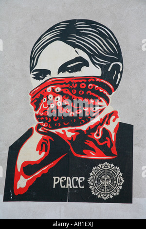 Shepard Fairey OBEY Paste up near Old Street, London - Stock Photo