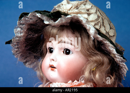 Maude Is An Antique Bisque Head Doll - Stock Photo
