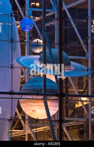 Planets at Hayden Planetarium in New York City - Stock Photo