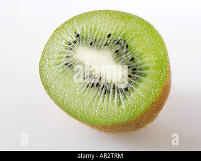 half Kiwi fruit. Cut out - Stock Photo