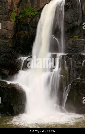 High Falls of the Pigeon River, Grand Portage State Park, Minnesota USA - Stock Photo