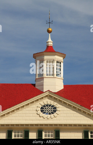 Cupola, George Washington's Mt. Vernon Estate & Gardens, Mt. Vernon, Virginia, USA - Stock Photo