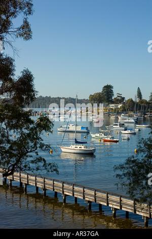 Boats on the Swan River, Perth WA - Stock Photo