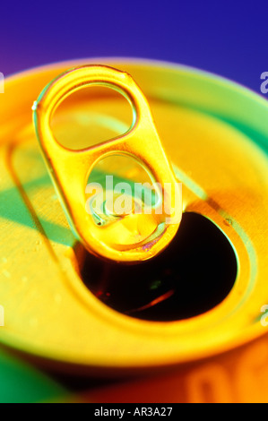 Pop top aluminum can - Stock Photo