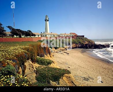 Pigeon Point Lighthouse California USA - Stock Photo
