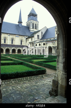 Fontevrault Abbey Anjou France - Stock Photo