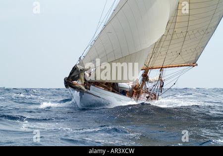 classic yacht racing during les voiles de st tropez stock photo 73963803 alamy. Black Bedroom Furniture Sets. Home Design Ideas