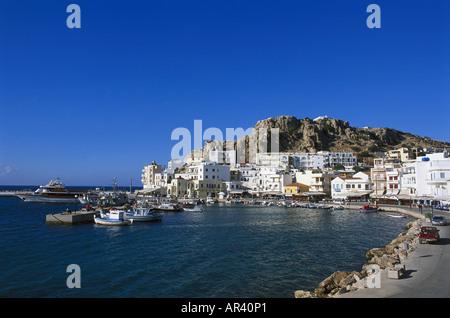 Vronthi Bay, Pigadia, Scarpanto, Dodecanese, Greece - Stock Photo