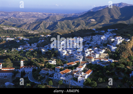 The village of Aperi, Karpathos, Dodecanese, Greece - Stock Photo
