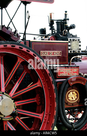 The beautiful Duke of Kent Steam traction engine built by Charles Burrell sons Thetford - Stock Photo