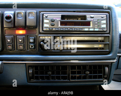Golf volkswagen 1990 car radio panel - Stock Photo