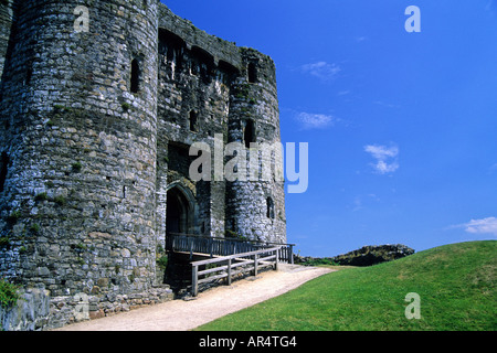 Kidwelly Castle Carmarthenshire West Wales UK - Stock Photo