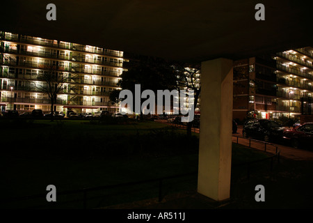 Churchill Gardens Estate in Pimlico, London - Stock Photo
