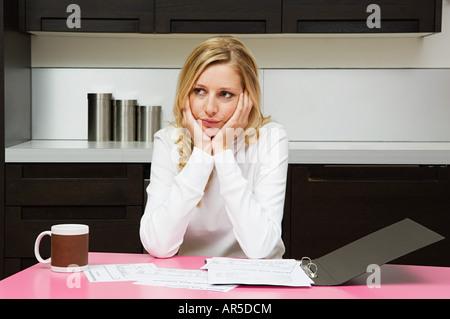 Worried woman - Stock Photo