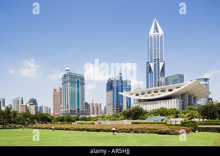 Modern architecture in shanghai - Stock Photo
