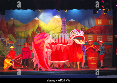 'Aladdin' Pantomime play, Concorde Club, Middlesex, England, United Kingdom - Stock Photo