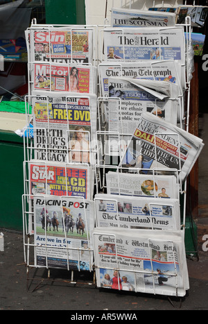 British UK daily and weekly newspapers, national and regional - Stock Photo