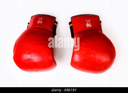 Vintage pair of boxing gloves - Stock Photo