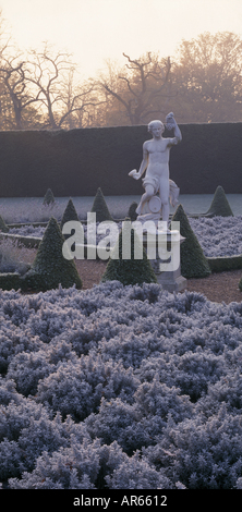 A view of the statue of the classical god Bacchus in the Cherry Garden at Ham House Surrey - Stock Photo