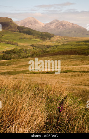 The Peaks of Broadford from the road to Elgol on the Isle of Skye. - Stock Photo