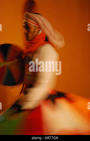 Egyptian dancer, InterContinental Taba Heights, Taba Heights, Sinai Peninsula, Republic of Egypt - Stock Photo