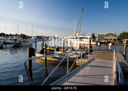 The marina in historic Essex, Connecticut. - Stock Photo