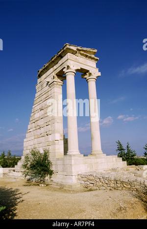 Temple of Apollo near Kourion Cyprus - Stock Photo