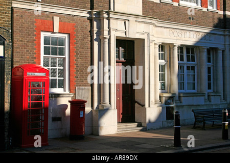 post office red letter box Rochester town within the unitary authority area of Medway in South East England - Stock Photo