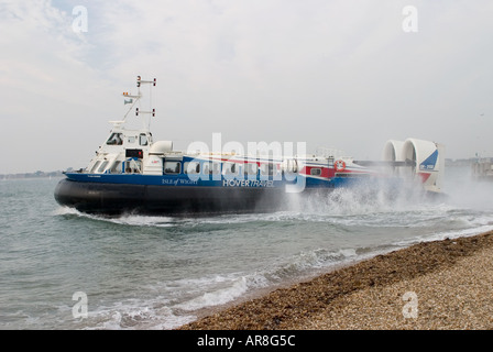 The AP1 88 100 Hovercraft service run by Hoverspeed between Portsmouth Southsea and Ryde on the Ilse of Wight - Stock Photo