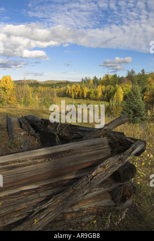 Old log cabin - Stock Photo